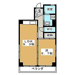 ひでや館[3階]の間取り