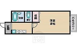 ライブステーション江坂[501号室]の間取り