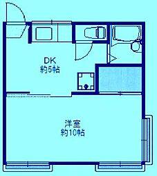 エクセレンス富士見[1階]の間取り