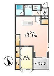 グランドゥール覚王山[2階]の間取り