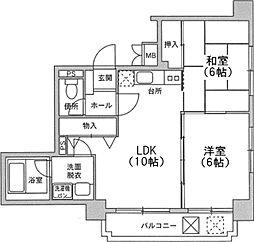 アミッドグリーン大濠弐番館[5階]の間取り