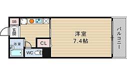 ジャストジャパンウエスト[7階]の間取り