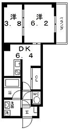 シャングリラ生玉[2階]の間取り
