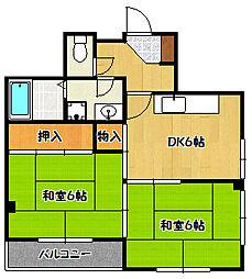 兵庫県神戸市兵庫区切戸町の賃貸マンションの間取り