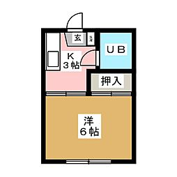 コーポムラカミ[1階]の間取り