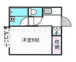 千葉県八千代市大和田の賃貸アパートの間取り