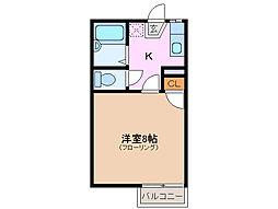 シャルム曙[1階]の間取り