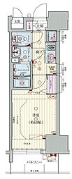 Osaka Metro千日前線 阿波座駅 徒歩1分の賃貸マンション 2階1Kの間取り