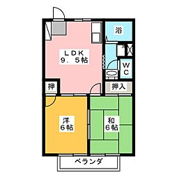 メゾン華 I[1階]の間取り