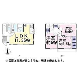 [一戸建] 埼玉県越谷市大字船渡 の賃貸【/】の間取り