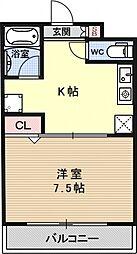 レジデンス西村[203号室号室]の間取り