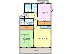 第2スカイマンション[1階]の間取り