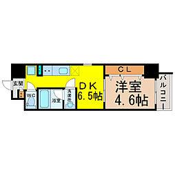 愛知県名古屋市中村区松原町5丁目の賃貸マンションの間取り