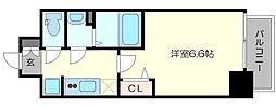 プレサンス梅田II 12階1Kの間取り