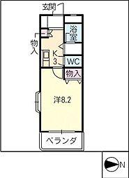 インターメゾン河芸[2階]の間取り