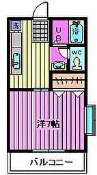 ボヌール[1階]の間取り