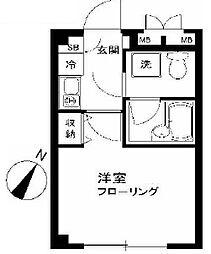 東京都大田区中央6丁目の賃貸マンションの間取り