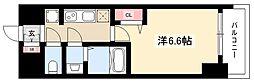 エステムコート名古屋グロース 3階1Kの間取り