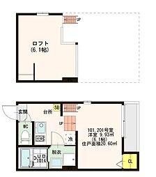 仮)歌島1丁目SKHコーポ[2階]の間取り