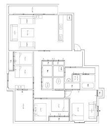 Osaka Metro御堂筋線 心斎橋駅 徒歩23分の賃貸マンション 3階3LDKの間取り