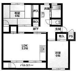 石津マンション[1階]の間取り