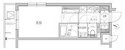 JR山手線 品川駅 徒歩9分の賃貸マンション 3階1Kの間取り