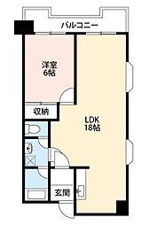 レジデンス鋲賀[5階]の間取り
