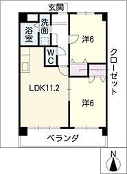 アーデルコート岩崎台[2階]の間取り