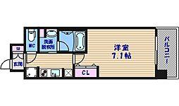 大阪府大阪市中央区博労町2丁目の賃貸マンションの間取り
