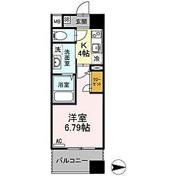 JR東北本線 仙台駅 徒歩10分の賃貸マンション 5階1Kの間取り