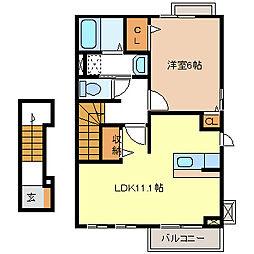 RAM・KOICHI(ラム・コイチ)[2階]の間取り