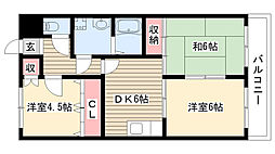 パレスグリーミーIII[306号室]の間取り