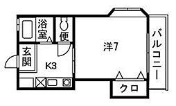 ウィンディ笹尾3[206号室]の間取り