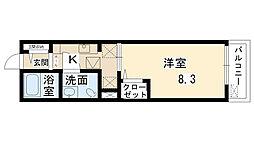 鶴野リバーサイドテラス[1階]の間取り