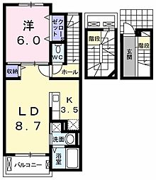 リバーヴィレッジ1[3階]の間取り