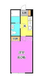 西武池袋線 武蔵藤沢駅 徒歩7分の賃貸アパート 3階1Kの間取り