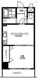 久米川プラネット[4階]の間取り