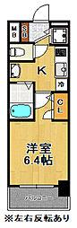 プレミアムコート大正フロント[3階]の間取り