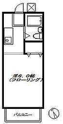コーポHANA[202号室]の間取り