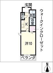 メルベーユ土古[2階]の間取り