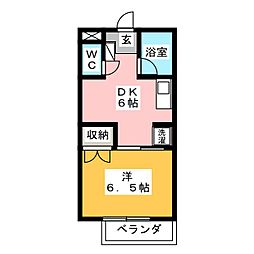 スイートピアfuji B棟[1階]の間取り