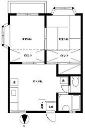 東邦レジデンスIII[201号室]の間取り
