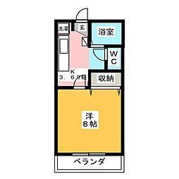 サンライズ[3階]の間取り