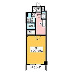 ロイジェント新栄III[5階]の間取り