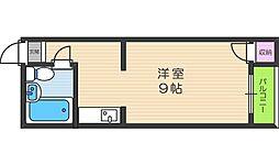 エム・ケイ2天王寺[403号室]の間取り