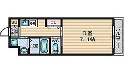 第5クリスタル三国駅前[2階]の間取り