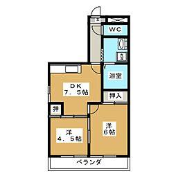 レジデンスITAZU[2階]の間取り
