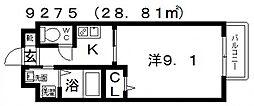 ステラウッド野中III[105号室号室]の間取り