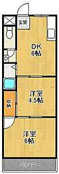 メゾンナカムラ[4階]の間取り