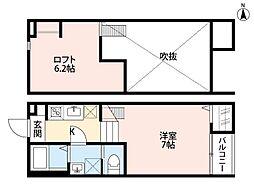 アーバンハウス上本郷[2階]の間取り